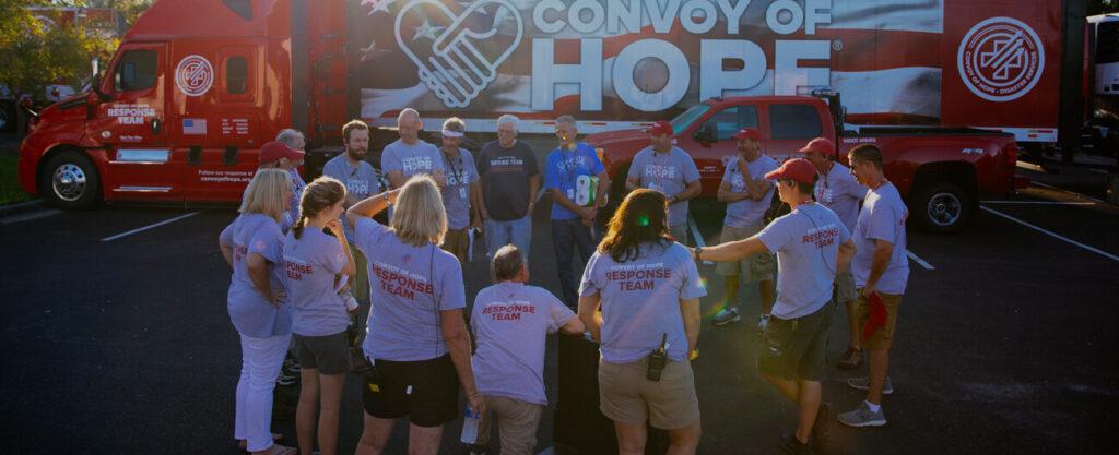 Convoy of Hope volunteers