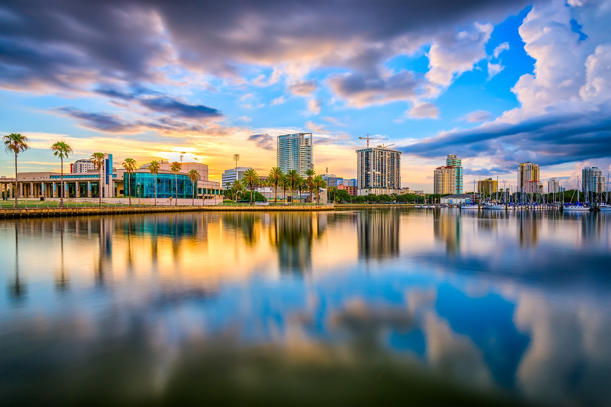 Waterfront of St. Petersburg, Florida