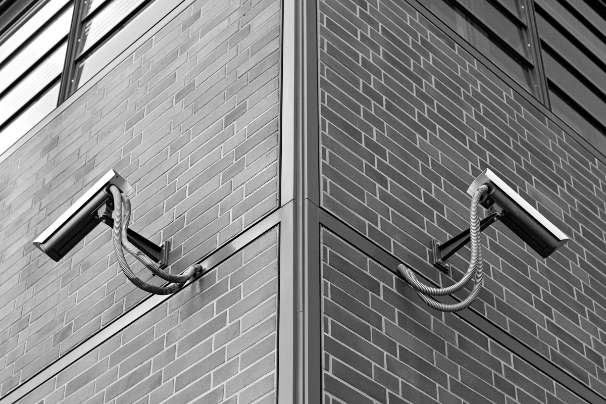 Security cameras on a building.