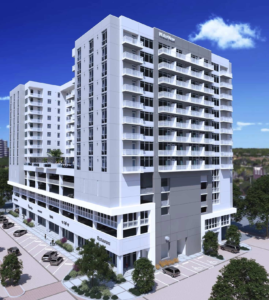 Artist rendering of the Waterview Apartments at Echelon City Center